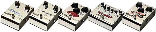 akai custom guitar pedals