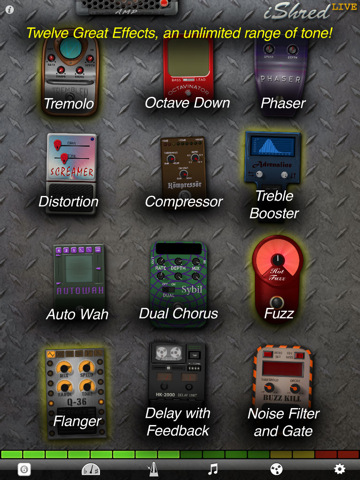 free guitar effects app for ipad iphone ishred live axetopia. Black Bedroom Furniture Sets. Home Design Ideas